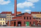 HO Bausatz - Heizhaus mit Schornstein (Auhagen 11431)