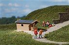 HO/TT Bausatz - 2 Holzhütten (Auhagen 42642)