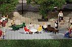 42647 Auhagen - Gartentische, Gartenstühle - HO/TT