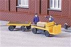 43659 Auhagen - Elektrokarren mit Anhänger - TT-Bausatz