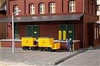 43663 Auhagen - Elektrokarren, Post mit Anhänger - TT-Bausatz