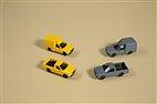 43664 Auhagen - Nutzfahrzeuge, Post 4 Stück, gelb und grau - TT