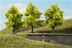70935 Auhagen - 3 Laubbäume hellgrün, 7 cm