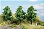70938 Auhagen - 3 Laubbäume dunkelgrün, 11 cm