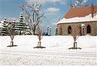 70951 Auhagen - Junge Bäume im Winter, 10 Stück - HO / TT / N