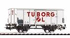 """Piko 54618 / Gedeckter Güterwagen G02 """"Tuborg"""" DSB, Ep. III - HO Neuheit 2021"""