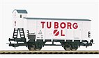 "Piko 54619 / Ged. Güterwagen G02 ""Tuborg"" mit Bremserhaus DSB, Ep.III - HO Neu 2021"