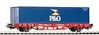 """Piko 57706 / Containertragwagen 40' """"P&O"""", DB Cargo Ep. V - HO"""