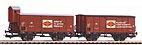 """Piko 58366 / 2er Set - Gedeckter Güterwagen G02 """"Fortschritt"""", DR Ep. III HO"""