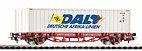 """Piko 58785 / Containertragwagen 40' """"DAL"""", DB AG Ep. VI"""