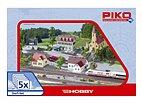 Piko 61925 - Dorf-Set (5 teilig) - HO Bausatz