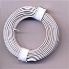 Kupferschaltdraht 1-adrig 0,5mm, 10m, Ring - weiß