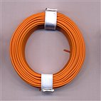Kupferschaltdraht 1-adrig 0,5mm, 10m, Ring - orange