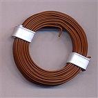 Kupferschaltdraht 1-adrig 0,5mm, 10m, Ring - braun